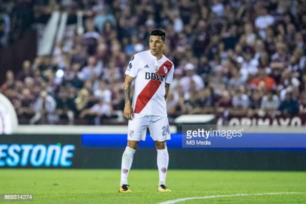 OCTOBER 31 River Plate Enzo Pérez during the Copa Libertadores semi finals 2nd leg match between Lanus and River Plate at Estadio Ciudad de Lanús...