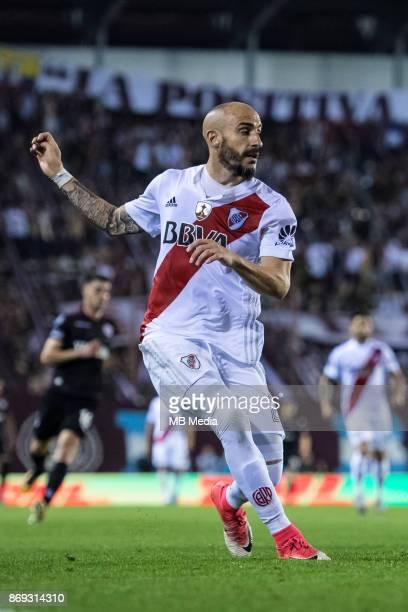 OCTOBER 31 River Plate Javier Pinola during the Copa Libertadores semi finals 2nd leg match between Lanus and River Plate at Estadio Ciudad de Lanús...