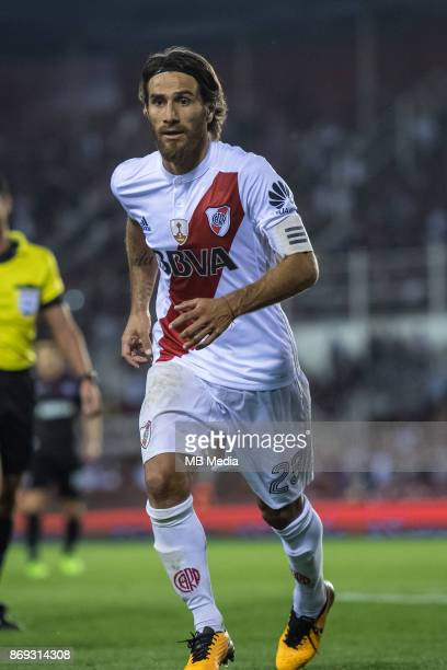 OCTOBER 31 River Plate Leonardo Ponzio during the Copa Libertadores semi finals 2nd leg match between Lanus and River Plate at Estadio Ciudad de...