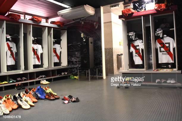 River Plate's dressing room prior to a match between a quarter final second leg match of Copa CONMEBOL Libertadores 2018 between River Plate and...