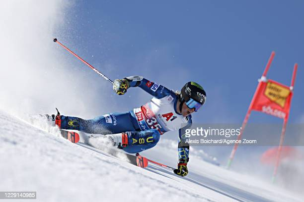 River Radamus of USA in action during the Audi FIS Alpine Ski World Cup Men's Giant Slalom on October 18, 2020 in Soelden, Austria.