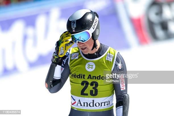 River Radamus of USA Ski Team during Mens SuperG Audi FIS Ski World Cup race on March 14 2019 in El Tarter Andorra