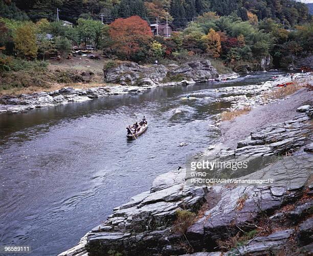 river rafting, nagatoro town, saitama prefecture, japan - 埼玉県 ストックフォトと画像