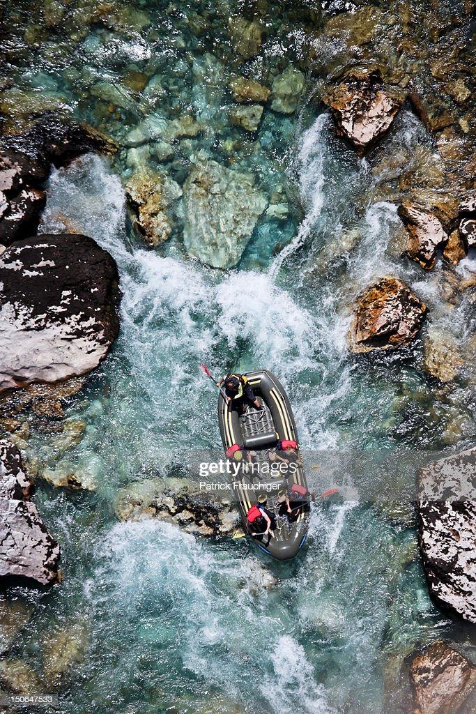 River rafting : Foto de stock