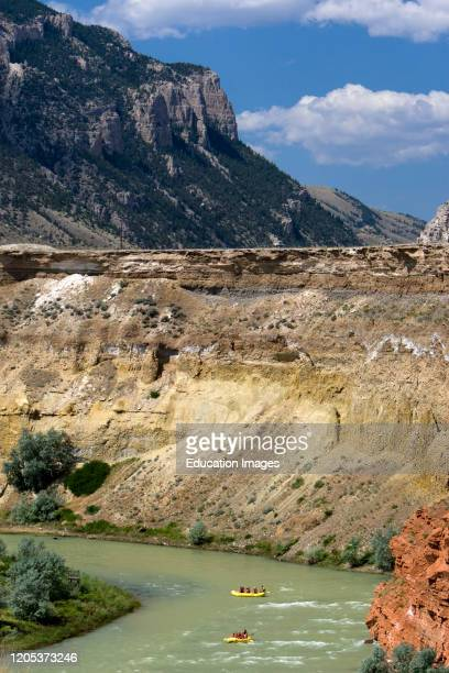 River rafting Shoshone River Red Rock Canyon Cody Wyoming USA
