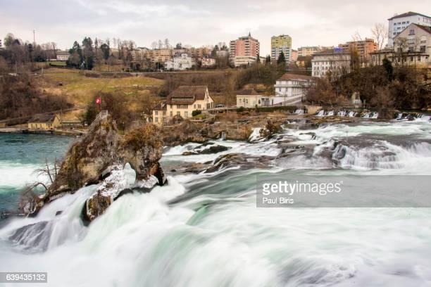 River Rhine waterfall, Rheinfall, canton Schaffhausen, Switzerland