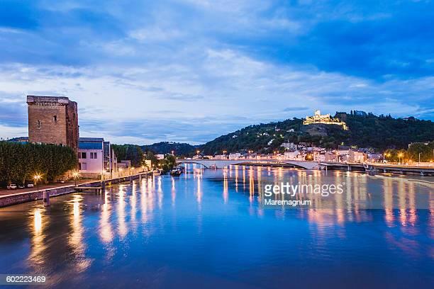 River Rhone, Valence and Saint Romain en Gal