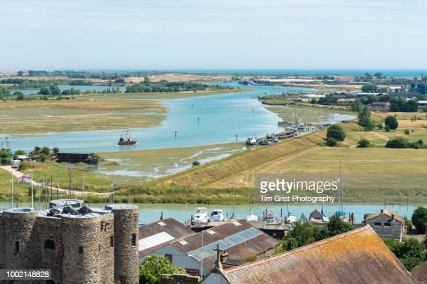 river rother, rye, east sussex, uk - イーストサセックス ストックフォトと画像