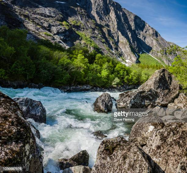 River Ruama tumbling down through the Romsdal Valley, Norway.