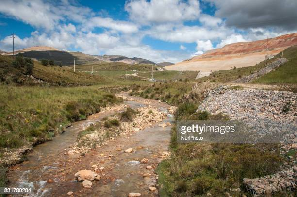 A river running next to the Yanacocha mine in Cajamarca Peru The mine is operated by Newmont mining Co and has increased water contamination in the...