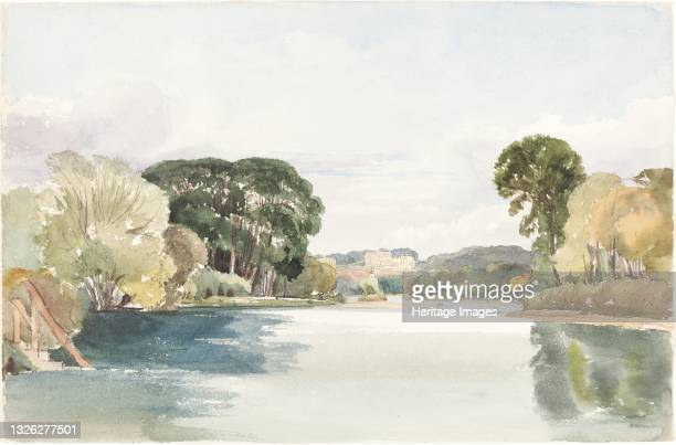 River Scene with Distant Castle. Artist James Bulwer.