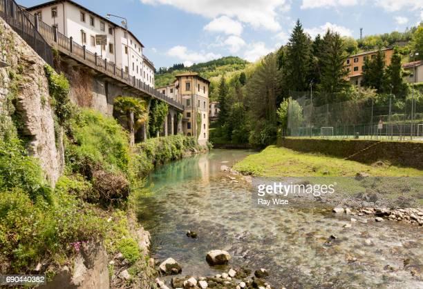 River Serchio, Castelnuovo di Garfagnana, Tuscany, Italy.
