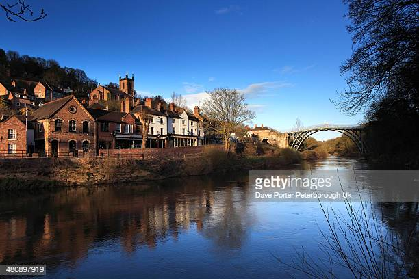 river Severn and Ironbridge town