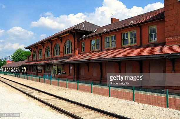 river station (rock island depot) - ペオリア ストックフォトと画像