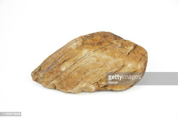river stones with a white background - fels stock-fotos und bilder