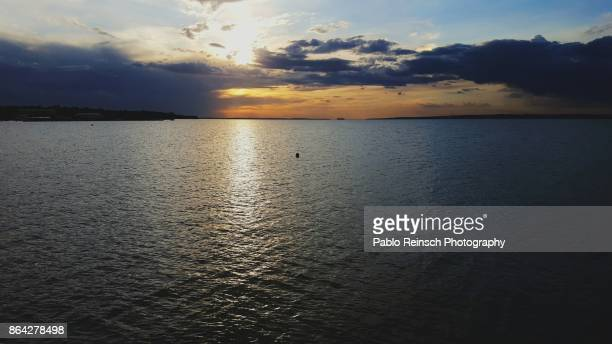 river sunset. - posadas stock pictures, royalty-free photos & images