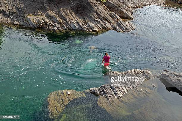 river swimmers - first nations stock pictures, royalty-free photos & images