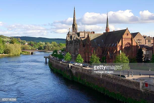 River Tay and Perth, Scotland.