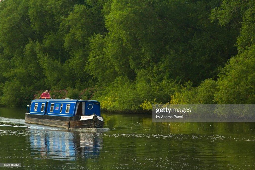 River Thames at Sandford-on-Thames, Oxfordshire, United Kingdom : Stock Photo