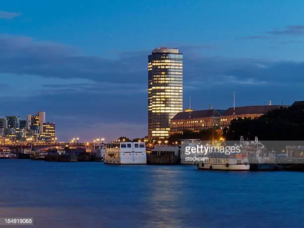 River Thames, London at dusk