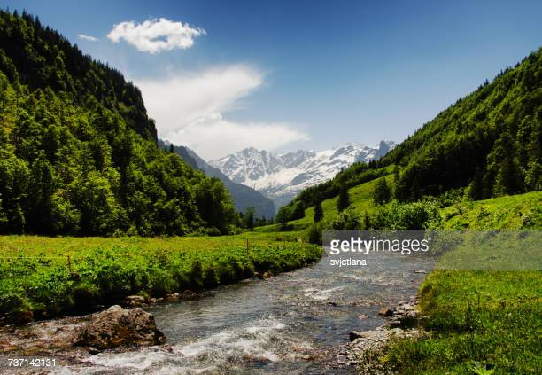 River through mountain valley, Innertkirchen, Bern, Switzerland