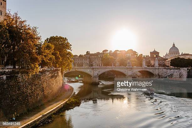 river tiber - christine wehrmeier stock photos and pictures