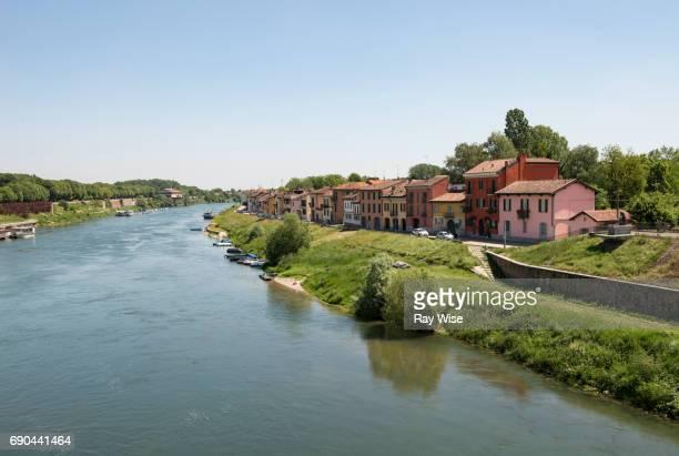 river ticino, pavia northern italy. - イタリア パヴィア ストックフォトと画像
