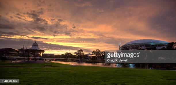 River Torrens and Adelaide Oval at Dusk