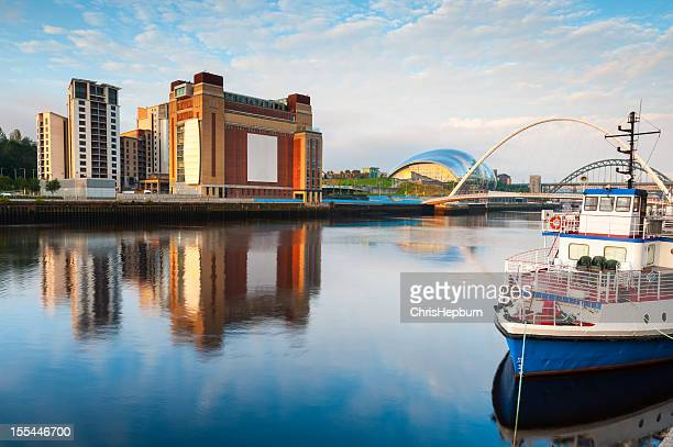 river tyne, newcastle-upon-tyne, england - newcastle stock photos and pictures