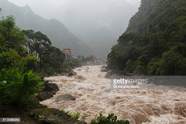 River Urubamba and the Aguas calientes town
