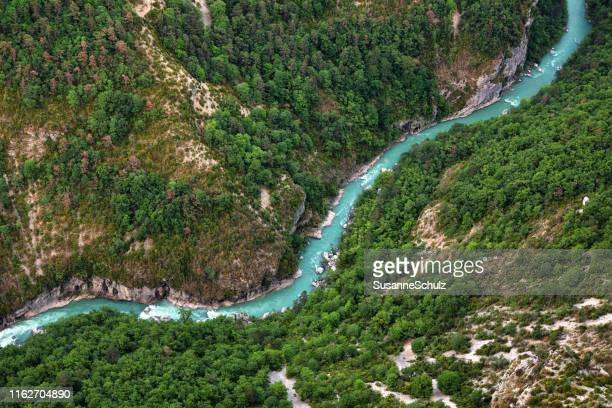 river valley of the verdon - river stock pictures, royalty-free photos & images
