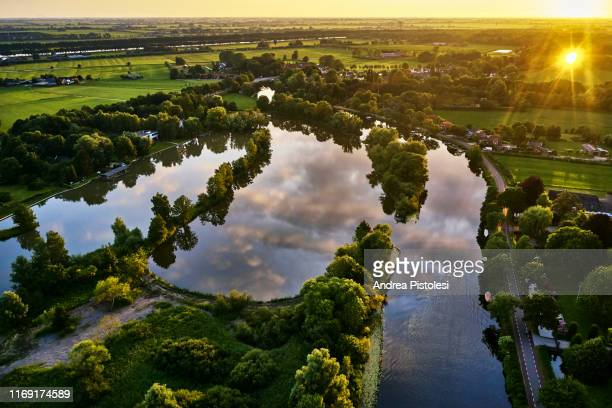 river vecht, utrecht province, netherlands - utrecht stock pictures, royalty-free photos & images