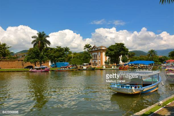 River view of Town of Paraty, Rio de Janeiro
