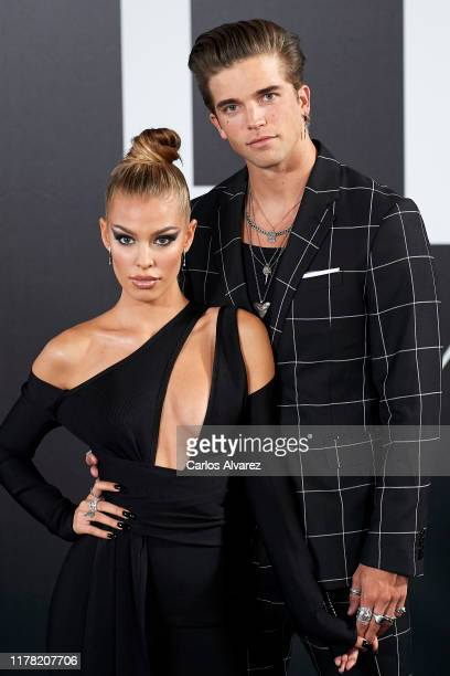 River Viiperi and Jessica Goicoechea attend the Yves Saint Laurent fragrance 'Libre' presentation at Real Fabrica de Tapices on September 30 2019 in...