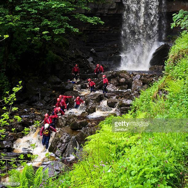 River Walking Group at Ashgill Force Waterfall.