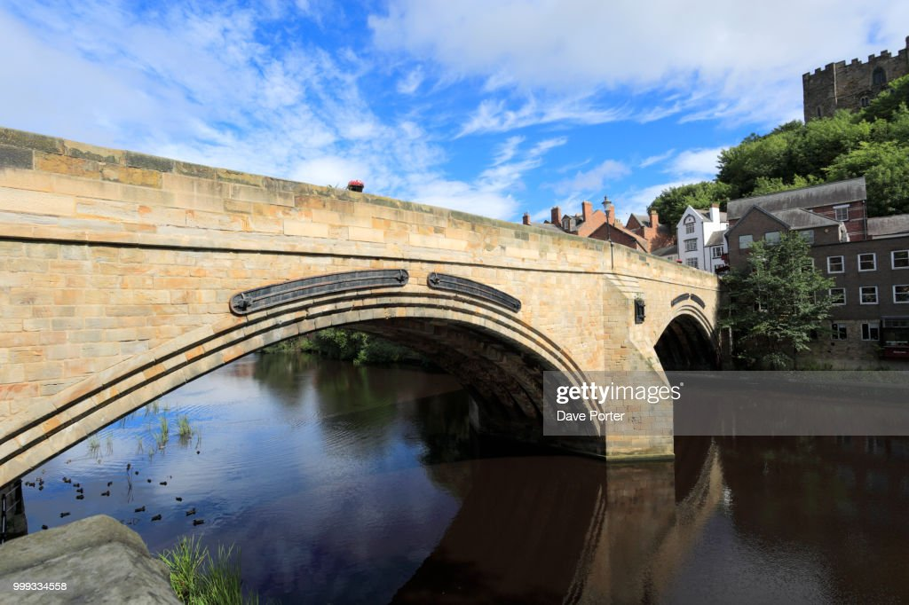 River Wear And Durham Castle Durham City County Durham Englan Stock