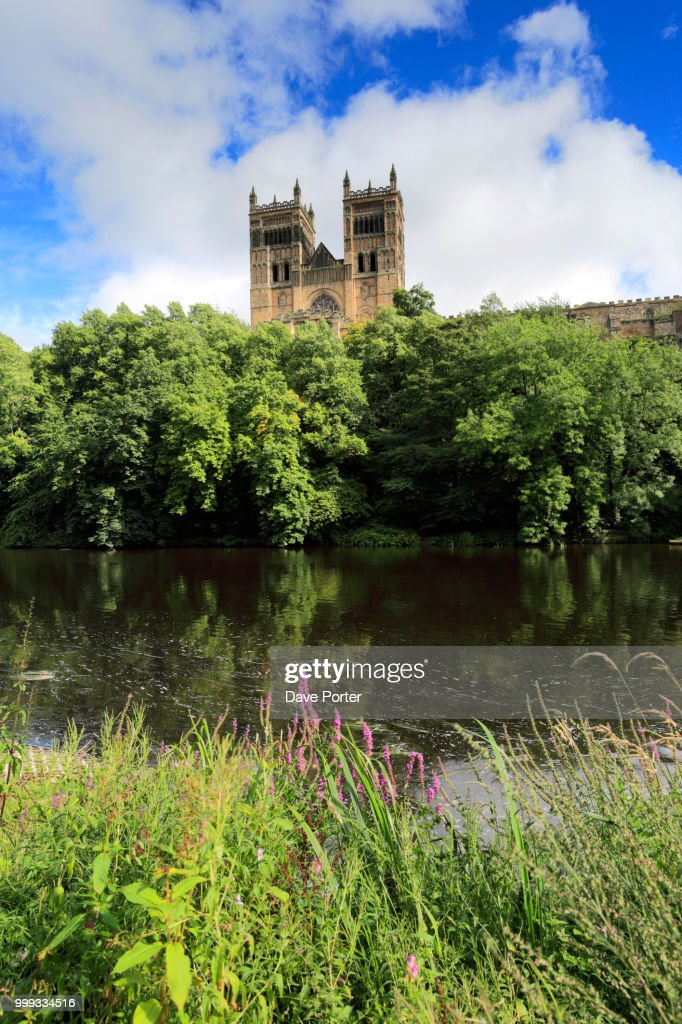 River Wear And Durham Cathedral Durham City County Durham Eng Stock