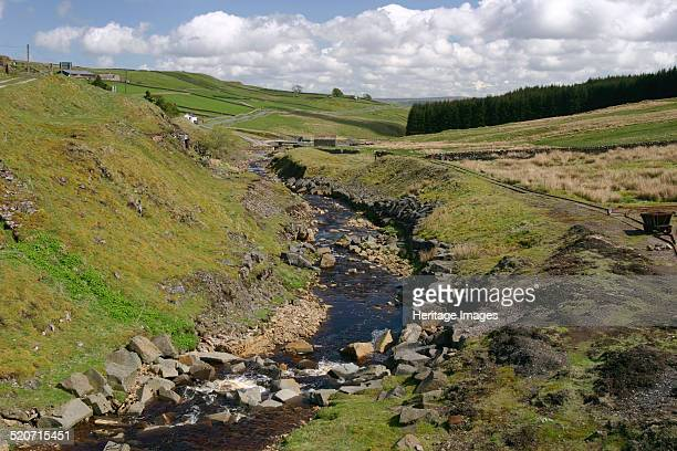 River Wear North of England Lead Mining Museum Killhope Weardale Durham The museum is on the site of the Old Park Head Lead Mine located near the...