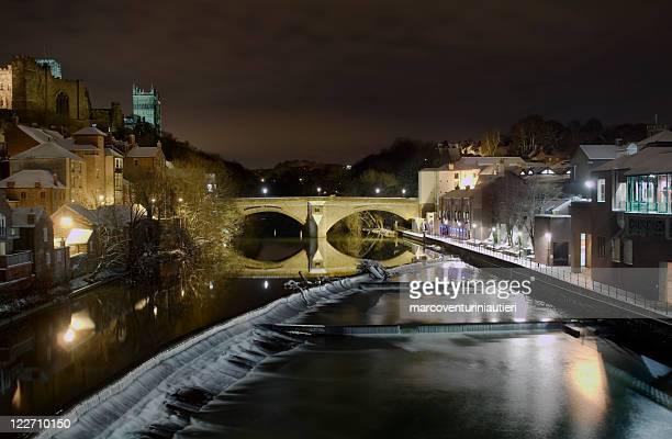 River Wear seen from Durham, cold winter - English landmark