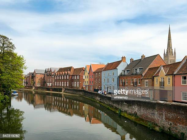 River Wensum and Quayside from Fye Bridge, Norwich