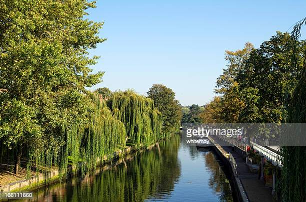 川と川岸 Wensum 、ノーウィッチ