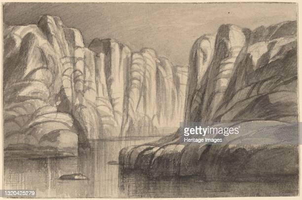 River Winding through a Rock Formation , 1884/1885. Artist Edward Lear.