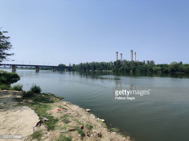 river yamuna in new delhi, the life line of the city - river yamuna stock pictures, royalty-free photos & images