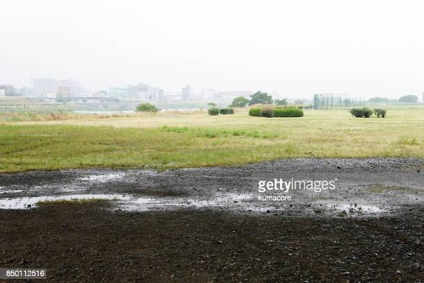 Riverbed of the sports park