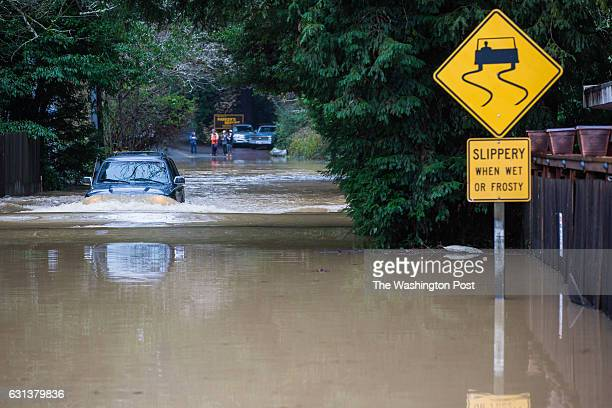 Riverbend Resort and RV park can be seen flooded in Guerneville California A massive storm dumped rain and snow over a huge portion of Northern...