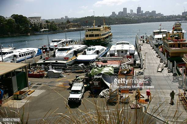 Rivercats laid up at the Balmain repair docks 13 February 2006 SMH NEWS Picture by NICK MOIR