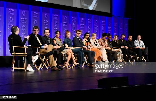 Riverdale cast and producers attend The Paley Center For Media's 35th Annual PaleyFest Los Angeles Riverdale at Dolby Theatre on March 25 2018 in...