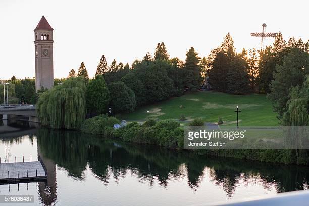 riverfront park, spokane, wa - riverfront park spokane stock photos and pictures