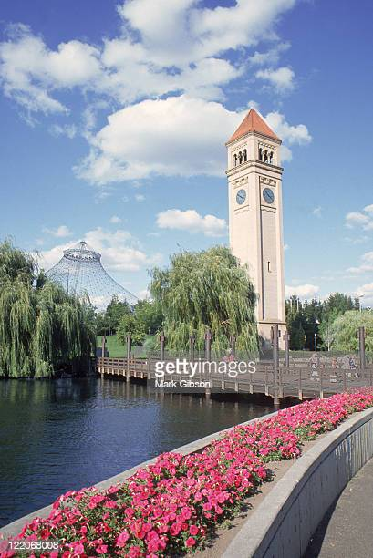 riverfront park, spokane, washington - riverfront park spokane stock photos and pictures