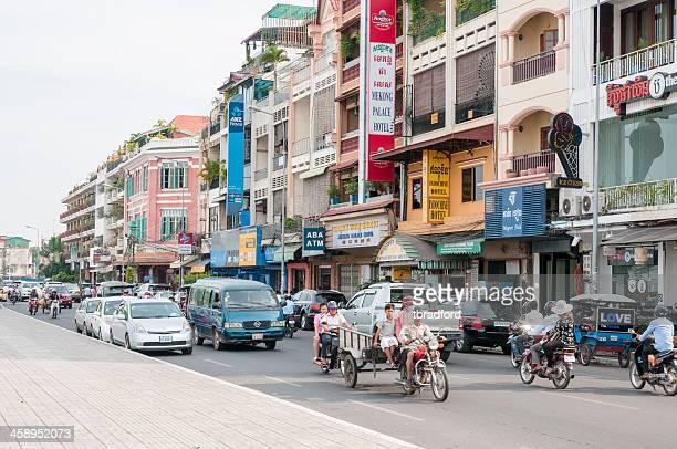 Riverfront Street Scene In Phnom Penh, Cambodia